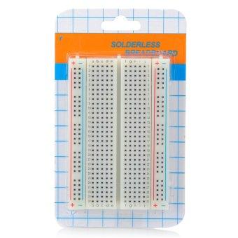 SOLDERLESS papan tempat memotong roti dengan 400 ikat-titik (putih)