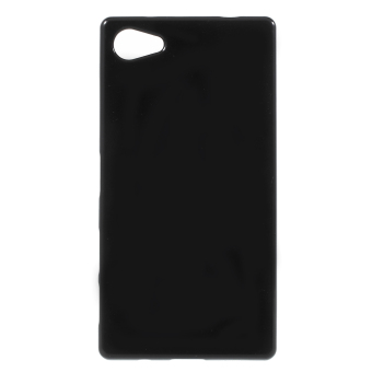 Solid Color Jelly TPU Phone Case for Sony Xperia Z5 Compact (Black)