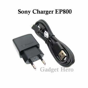 Sony Charger Xperia EP800 + Kabel Data Micro USB