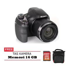Sony DSC H400 - 20.1 MP - 63x Optical Zoom Free memori 16 Gb & Tas