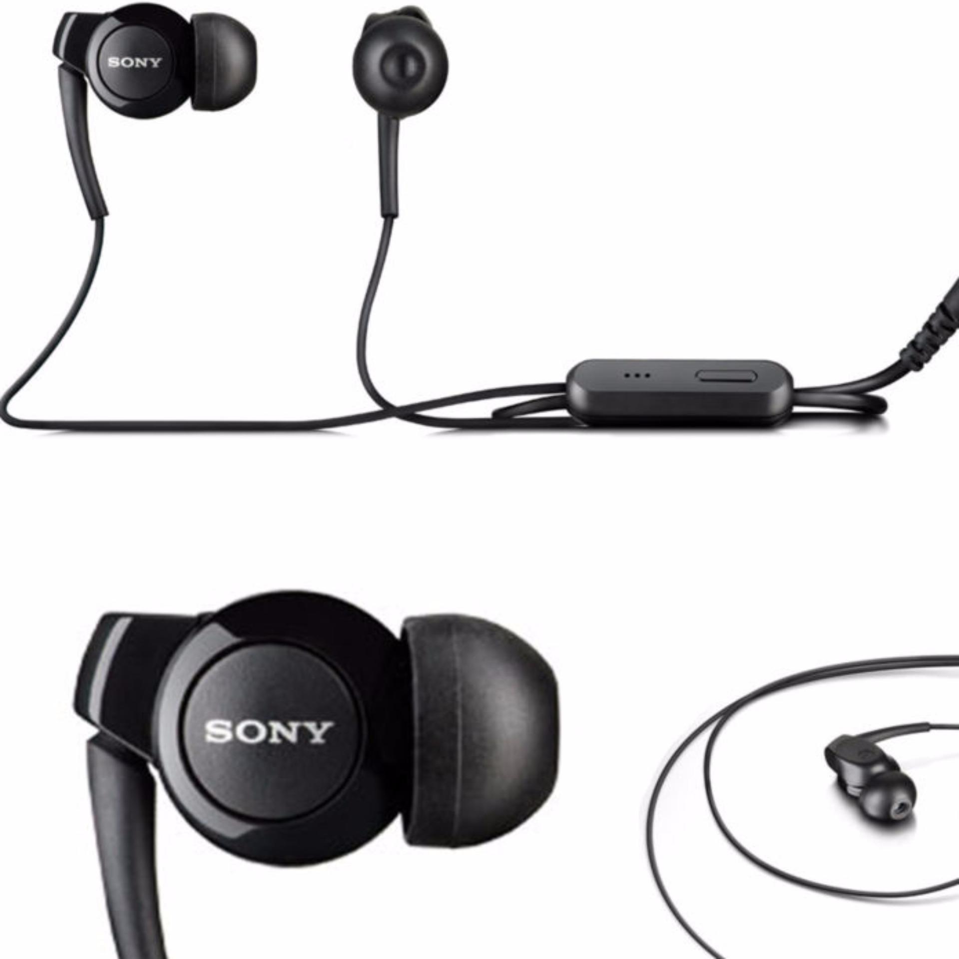 Sony earphone MH-Ex300AP bass in soud_Hhitam .