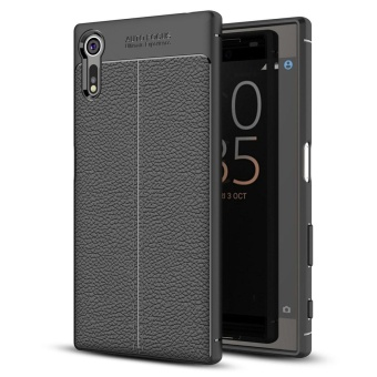 Harga Sony Xperia XZ/XZS Case , Mooncase [Ultra-Thin] Anti-Scratch Imitation Leather Print Back Cover Premium Matte TPU Protect Cover - intl