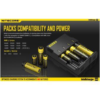 SP Nitecore Intellicharger Universal Battery Baterai Batre Charger Camera Kamera 4 Slot for Li-ion and NiMH - i4 AA AAA - 4