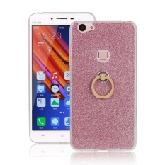 Sparkling Slim Fit Soft TPU Kembali Case Ring Grip Holder Cover untuk Vivo X6 PLUS (pink)