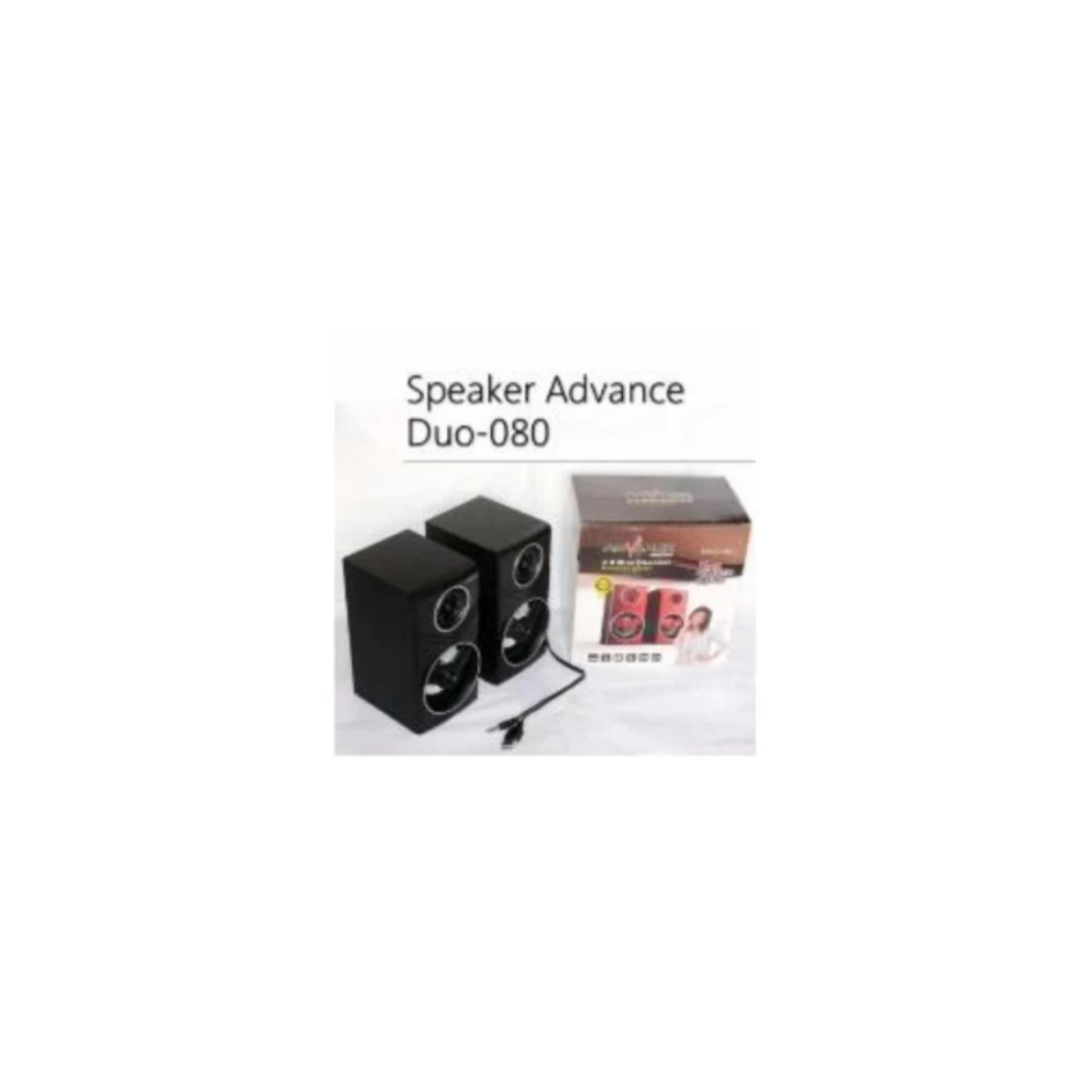 Advance Duo 080 Speaker Komputer Usb With Volume Control Hitam 300