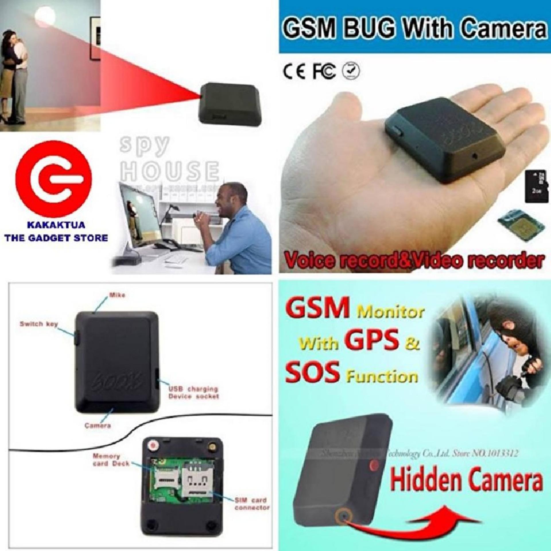 spy cam alat sadap /penyadap mini suara BUG GSM jarak jauh support kartu SIM dan