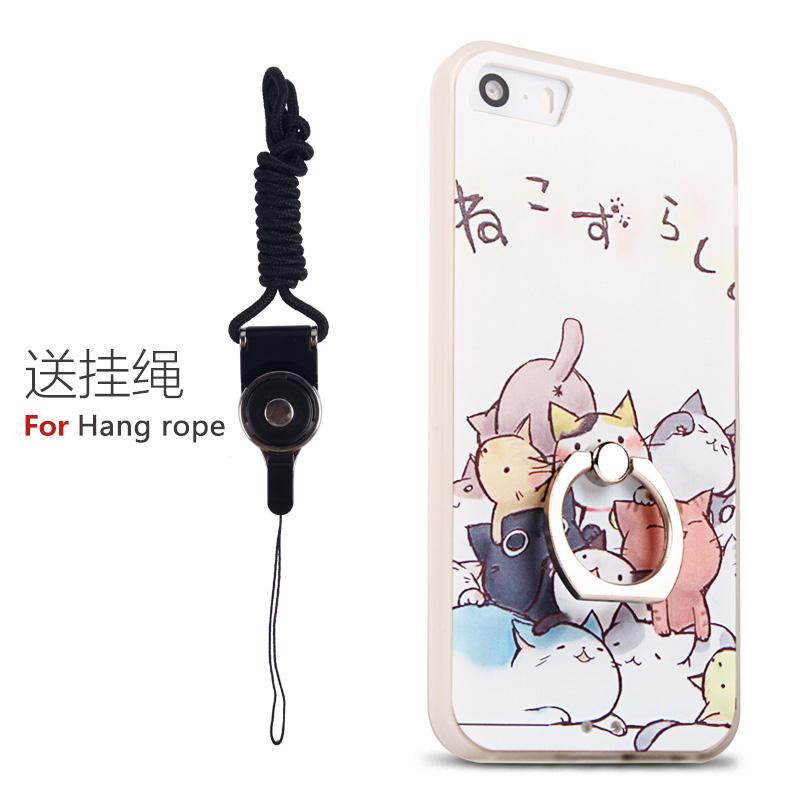 Suoya iphone5 silikon buram pria dan wanita apel lengan pelindung shell telepon