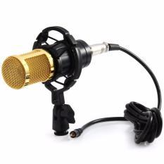 Taffware Mikrofon Kondenser Studio dengan Shock Proof Mount BM800 - Black