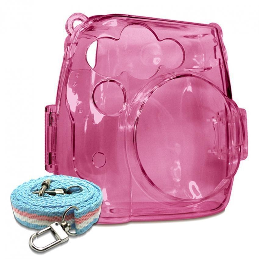 ... Takashi kristal pelindung plastik dengan tali pengikat untuk wadahFujifilm Instax Mini 8 kamera instan (Berwarna ...
