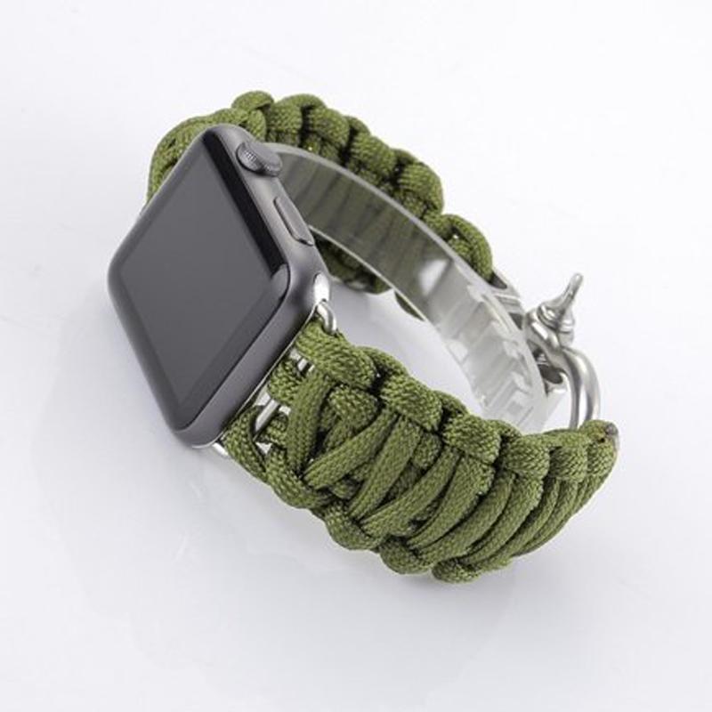 Hitam Source · Tali jam simpul dengan buckle berbahan stainless steel untuk Apple .