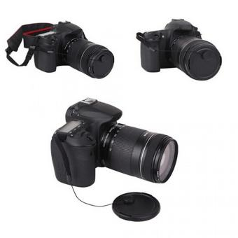 Tali Tutup Lensa Kamera Anti Lost Lens Cap Strap - Black - 5