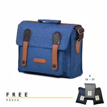 harga Tas Selempang Kamera - Lensa Messenger Bag Pria Wanita - CameraSling Bag Mithril Lecca Cobalt Blue Lazada.co.id