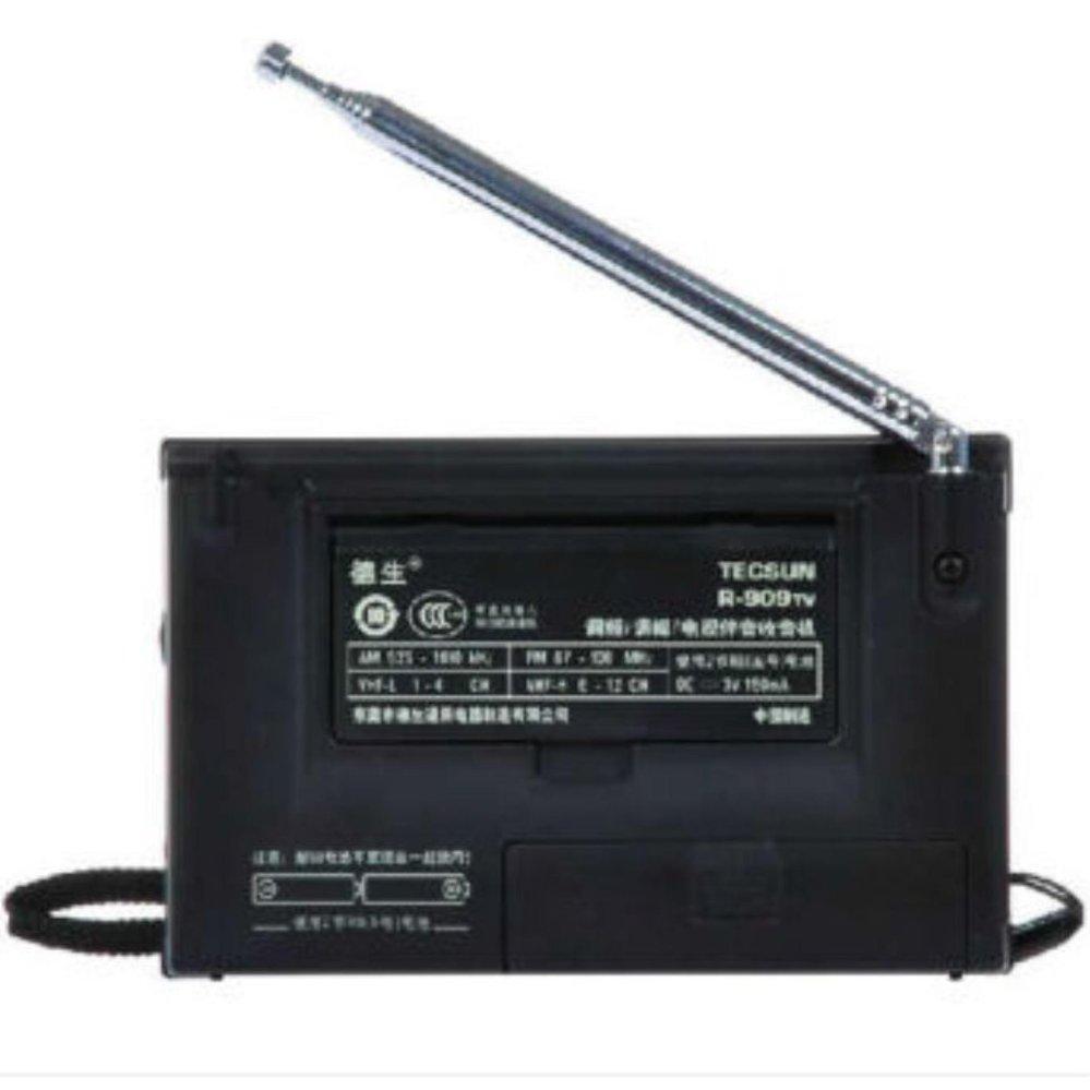 ... TECSUN multi-band FM/AM and TV audio channel radio receiver R-909TV ...