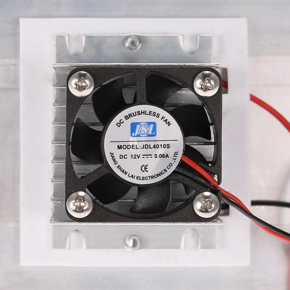 Thermoelectric Peltier Refrigeration Cooling System Kit Semiconductor Cooler Large Radiator Cold Conduction Module Double Fans ...