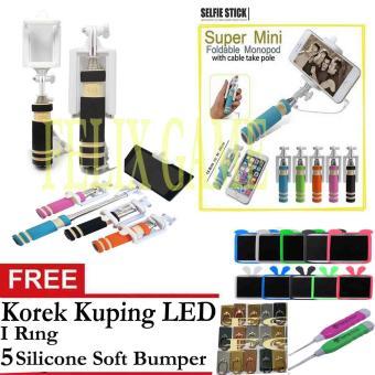 Tongsis Monopod Mini HitamGratis I Ring Korek Kuping LED  5