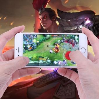 Detail Gambar Touchscreen Phone Tablet Gamepad Controller Joystick 2X Suction Cups(Red) - intl