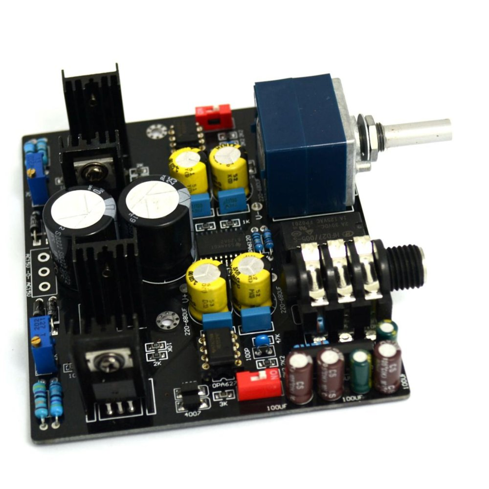 Hot Deals Tpa6120a Ne5534 Headphone Amp Board Stereo Adc Upc1237protective Circuit Intl
