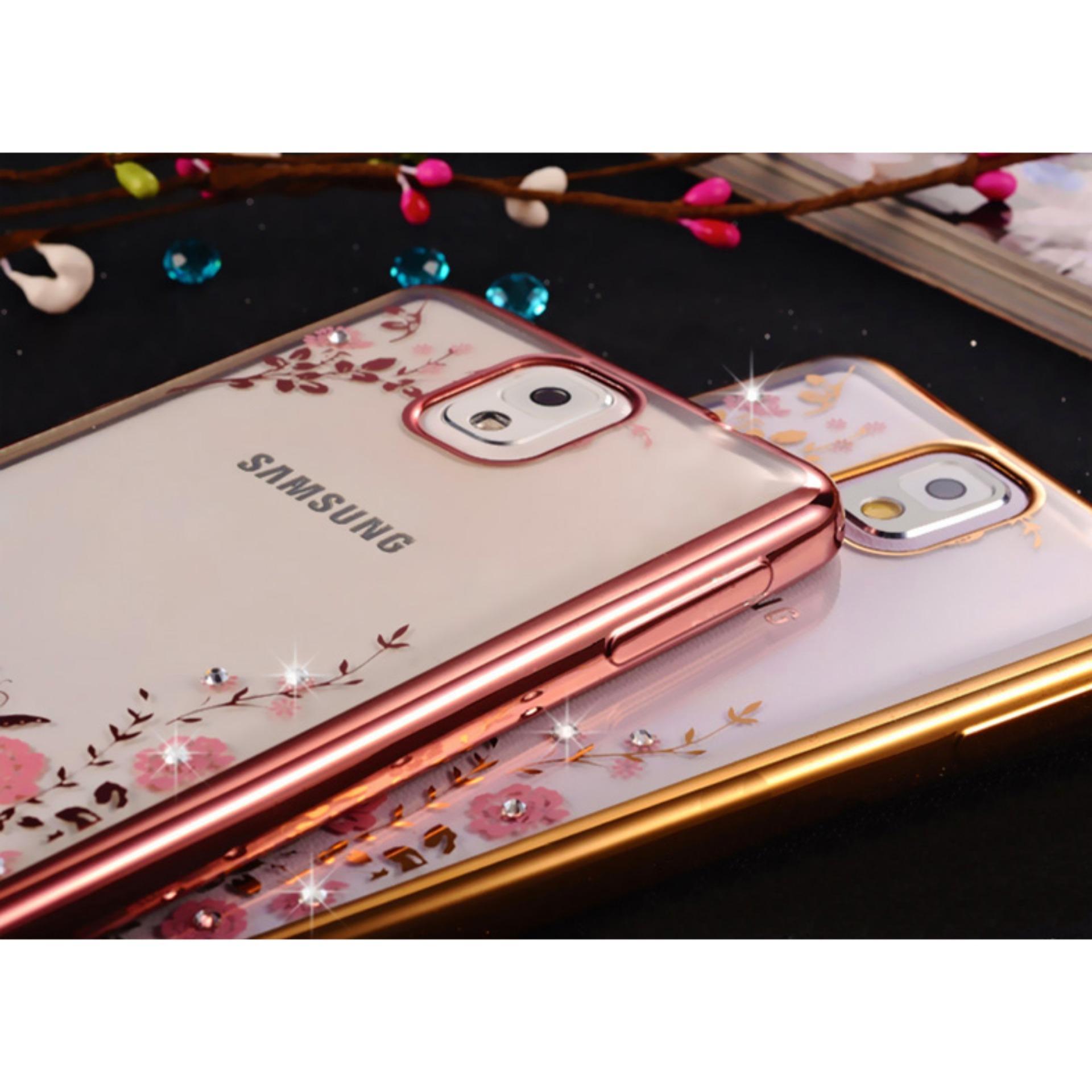 TPU silikon Gel lembut berwarna merah muda bunga belakang CaseUntuk Samsung Galaxy Note 3 (mawar