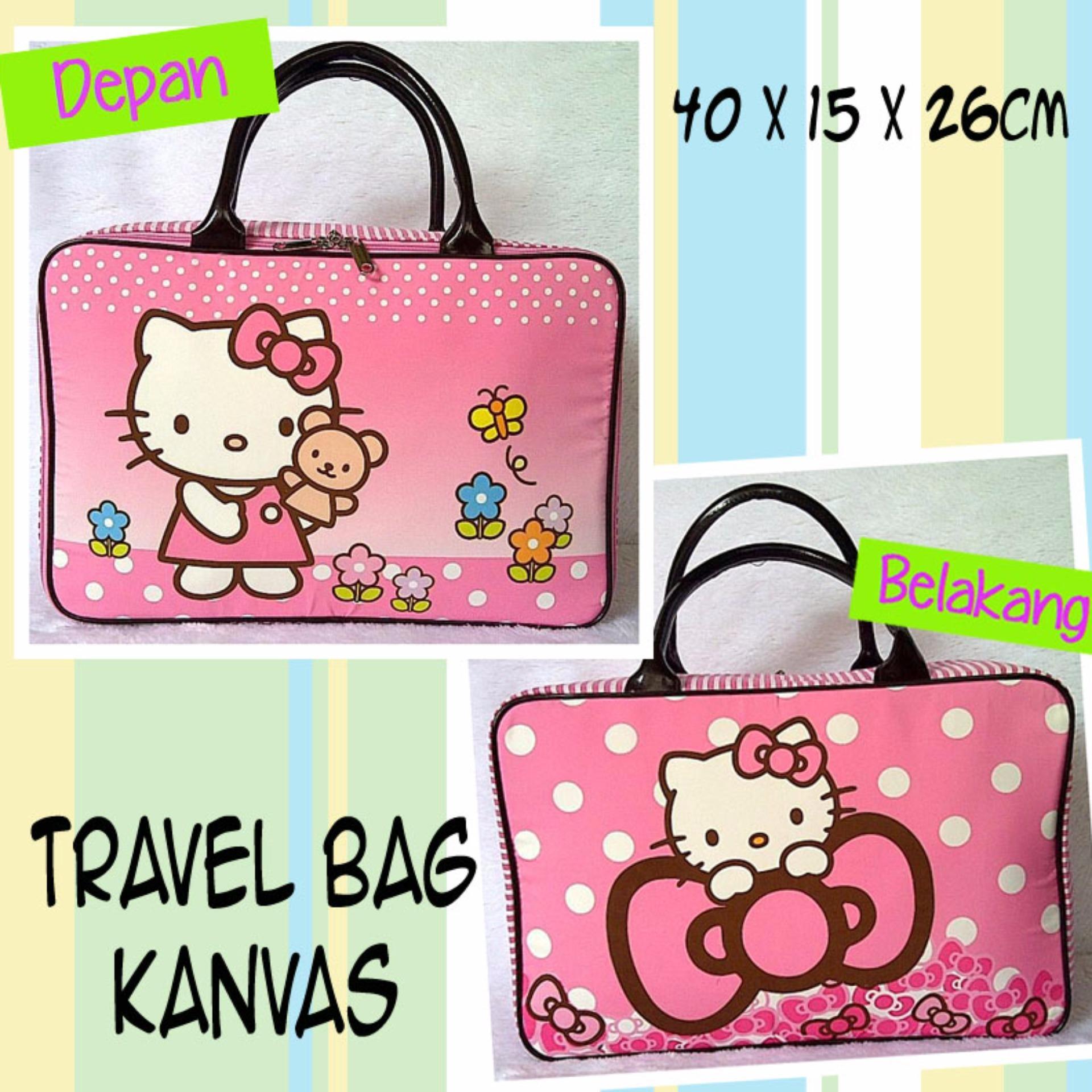 Travel Bag Kanvas HelloKitty Pita