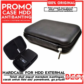 Trend's Hard Case Shockproof Tas Hardisk / Powerbank Tahan Banting for External HDD 2.5 inch Pouch