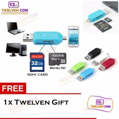Twelven OTG Card Reader 2 in 1 for SDHC & Micro SD - Black + Free Twelven Gift