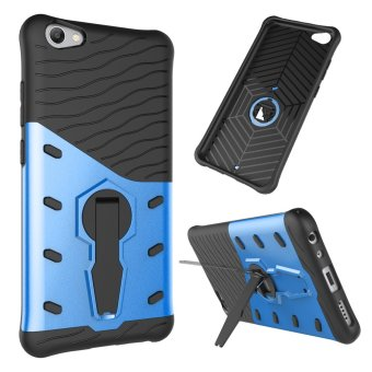 UEKNT Heavy Duty Rugged Armor Shockproof Case with 360 DegreeSwivel Rotating Kickstand Cover Case for Vivo V5s (Blue) - intl