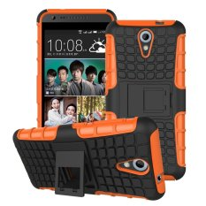UEKNT Hybrid Dual Layer Tough Heavy Duty Perlindungan Shockproof Protective Kickstand Cover Case untuk HTC Desire 620/820 Mini (Orange) -Intl
