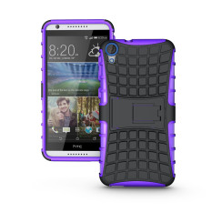 Ueokeird Heavy Duty Shockproof Dual Layer Hybrid Armor Protective Cover with Kickstand Case for HTC Desire 820 - intl