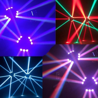 U'King Lighting Spider Moving Head Light Stage Effect Light9*3W RGB LEDs DMX512 and Sound Active Light Triangle Lampfor DJ Bar Party Nightclub Discotheque - intl - 2