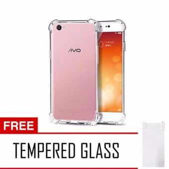 Ultrathin Anti Shock Vivo Y53 2017 Softcase Anti Jamur Anti Crack Vivo Y53 Air Case 0.3mm / Silicone / Soft Case Y53 / Case Hp Y53 Free Temper Glass - Transparant