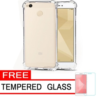 Ultrathin Anti Shock Xiaomi Redmi 4X Softcase Anti Jamur Anti Crack Redmi4x Air Case 0.3mm / Silicone / Soft Case Xiaomi Redmi 4X / Case Hp Redmi 4X Free Temper Glass - Transparant