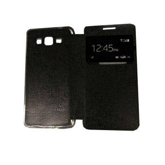 Ume Acer Liquid Z220 / Acer Z220 Flip Shell / FlipCover / LeatherCase / Sarung HP / View - Hitam