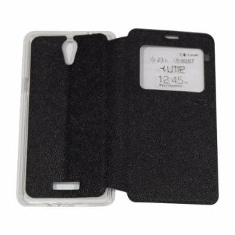 Hot Deals Ume CoolPad Sky 3 E502 Flipshell / Flip Cover / Leather Case /Sarung Case Coolpad Sky 3 / Sarung HP / Sarung Handphone / View -Hitam Anggaran ...