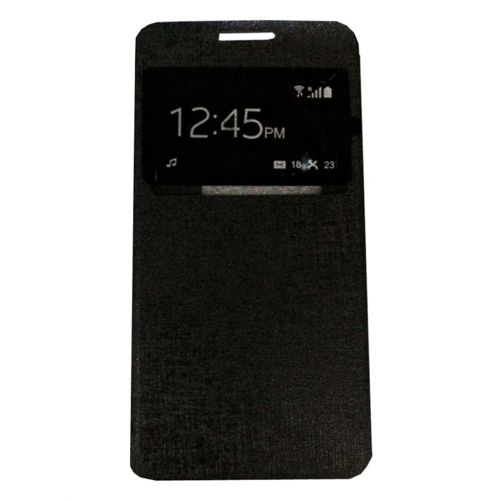 Flash Sale Ume FlipCover Alcatel Flash 2 Flip Shell / Leather Case / Sarung HP/ View - Hitam