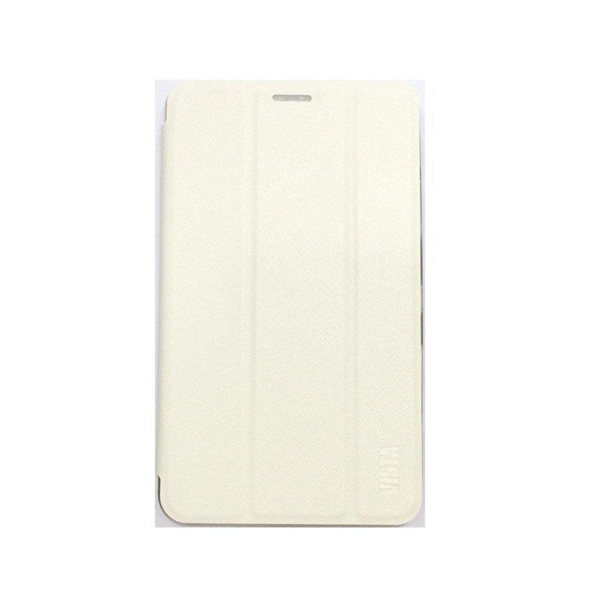 Ume For Advan E1C Flipcase Flipshel Flipcover Casing Leather Case Flip Cover - Putih