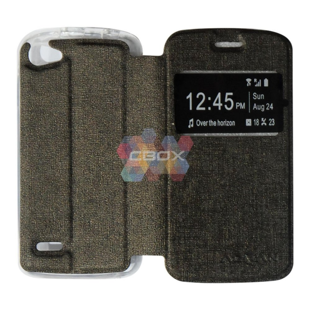 ... Ume Phone Cover for Advan Vandroid S4t Flip Shell silicone /Leather Faux Case - Coklat ...
