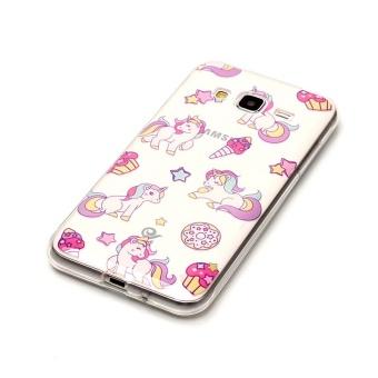 Unicorn TPU Soft Gasbag Back Case Cover For Samsung Galaxy J3 Case intl .
