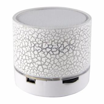 uNiQue Mini LED Bluetooth Speaker S10 LED Light - White