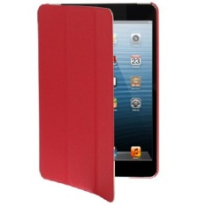 Universal 3-fold Smart Case for iPad Mini - Red
