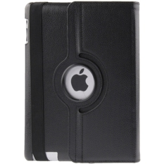 Universal 360 Degree Rotatable Litchi Texture Leather Case for New iPad (iPad 3) / iPad 2 - Black