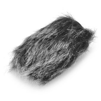 JUAL Universal Rabbit Hair Windproof Cover for Camera Microphone – Black+ White – intl TERMURAH