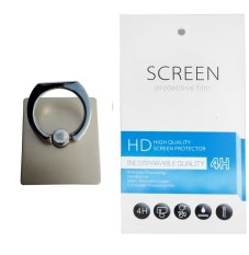 Universal Ring Stand (firmly stick on phone / phone cover case) + Gratis 1 Clear Screen Protector for Alcatel Pixi 4 5.5 OT 5012