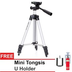 Universal Tripod for Camera And Smartphone + Tongsis Remote + U Holder