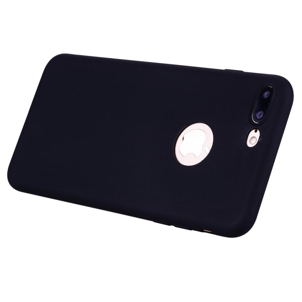 Untuk iPhone 7 Plus 5.5 inch Matte anti fingerprint TPU ponsel Casing - hitam ...