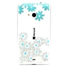 Untuk kasus Moonmini Microsoft Lumia 535 - Bunga-Bunga Ultra Tipis kasus belakang lembut
