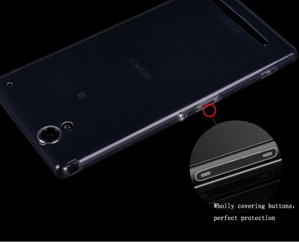 Untuk kasus Moonmini Sony Xperia T2 Ultra - transparansiultra-tipis 0.5 mm lembut mulur jelas
