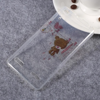 Untuk Lenovo A6000 / A6000 Plus / A6010 / A6010 Plus / K3 IMD bermotif bening TPU Case Belakang - Teddy Bear