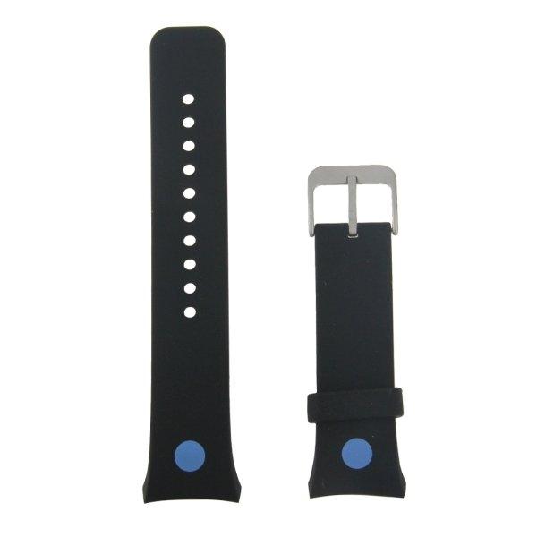 Untuk Samsung Gear S2 cetak jam arloji silikon sutra (hitam + biru .