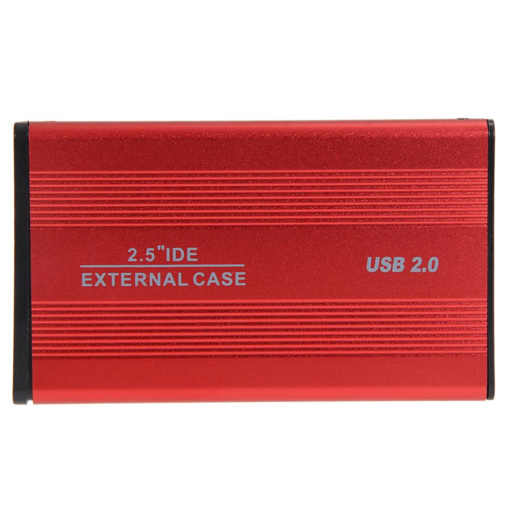 USB 2.0 6.35 cm SATA kandang untuk kasus laptop eksternal harddisk-Merah .
