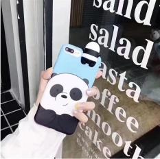 Valentine Couple Series 3D Cute Panda IMD TPU Soft Cover for iPhone 7 Plus 5.5 -